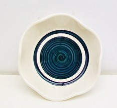 "DRAGON POTTERY 5"" Candy DISH Blue Whirlpool Swi... - $8.79"