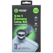 U-Youse 3-in-1 Camera Lens Kit for Smarphones and Tablets Android IOS