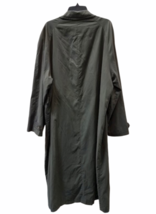 """Vintage Giorgio Armani Long Olive Green Trench Rain Coat 54"""" Chest Made in Italy image 6"""