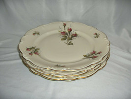 "4 Vintage Rosenthal China Pompadour Selb Germany 10 1/8"" Dinner Plates NICE - $94.05"