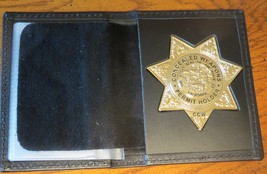 Concealed Weapons Permit Holder Badge & badge case California  - $43.50