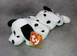 TY Beanie DOTTY Dalmatian Dog Mint with Tag Protector 1 Owner Smoke Free Home - $4.70