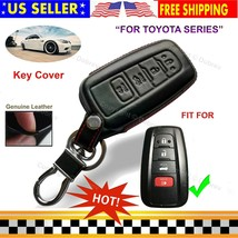 Genuine Leather Cover Entry Fob Case for Toyota Camry RAV4 Highlander Avalon Key - $16.80