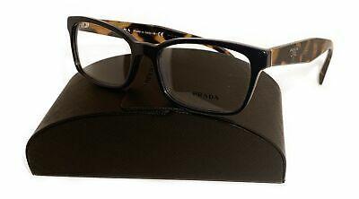 Prada Women's Blue Tortoise Glasses with case VPR 18T VIB-1O1 53mm