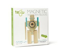 Tegu Magbot Magnetic Wooden Block Set [New] Wood Robot Toy Transforms - $49.89