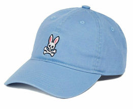 Psycho Bunny Men's Cotton Embroidered Strapback Sports Baseball Cap Hat image 8