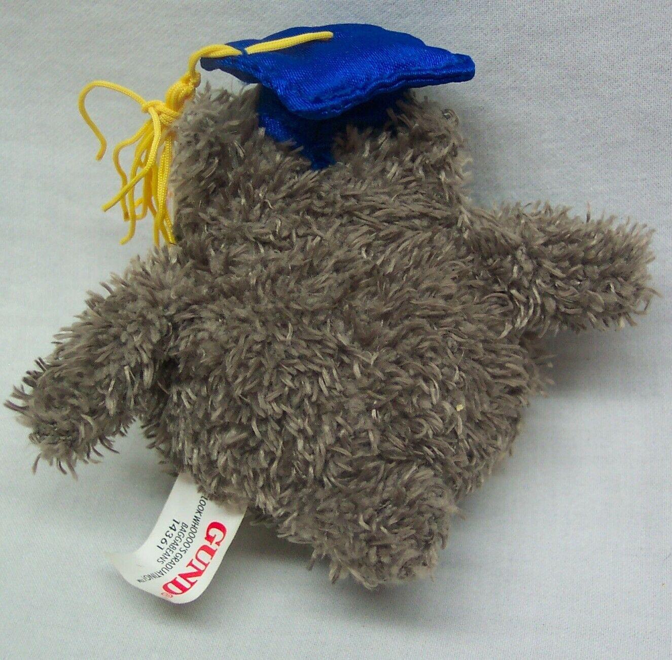 """Gund Graduation Hat Beanbag 3/"""" Blue"""