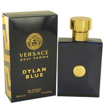 Versace Pour Homme Dylan Blue Cologne 3.4 Oz Eau De Toilette Spray image 2