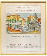 Vintage Lithograph Print Poster Francois Desoyner France Salon Mantes-La... - $449.99