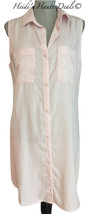 NEW Anthropologie Cloth & Stone Pastel Pink Chambray Shirt Dress M Mediu... - $44.99