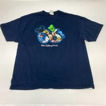 Walt Disney Mickey Mouse & Friends T Shirt Mens 2XL XXL Short Sleeve Navy Cotton - $17.99