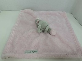 Blankets & Beyond small pink gray elephant head security blanket lovey b... - $14.84