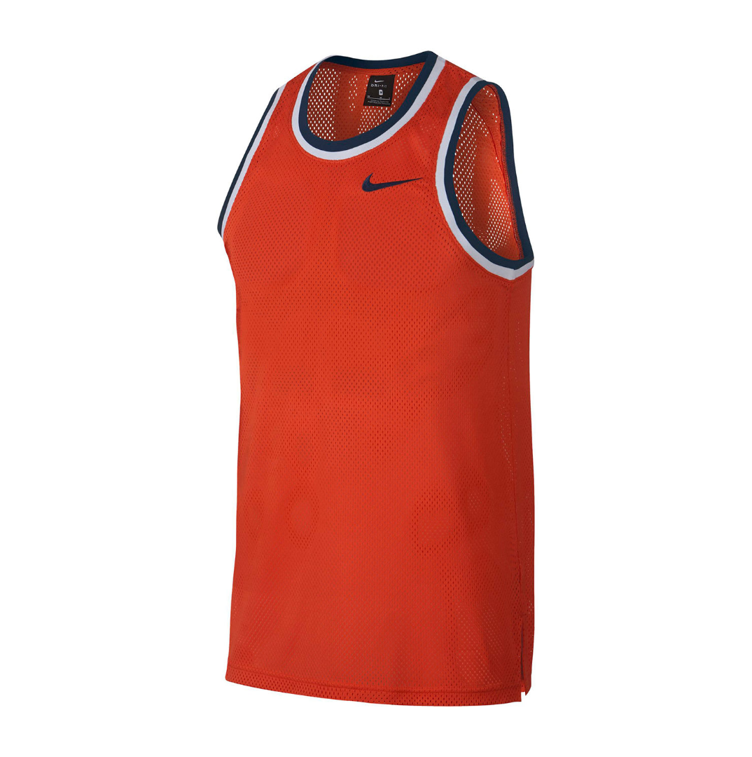Primary image for Nike Mens Mesh Tank Top Size XL New Msrp $35.00 Team Orange