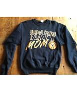 Navy MOM SWEATSHIRT Dark-Blue USA US Military SZ small - $19.66