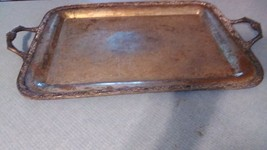 Silver-plated Victorian Rose Serving Tray Platter #1991 25 1/2 long - $67.00