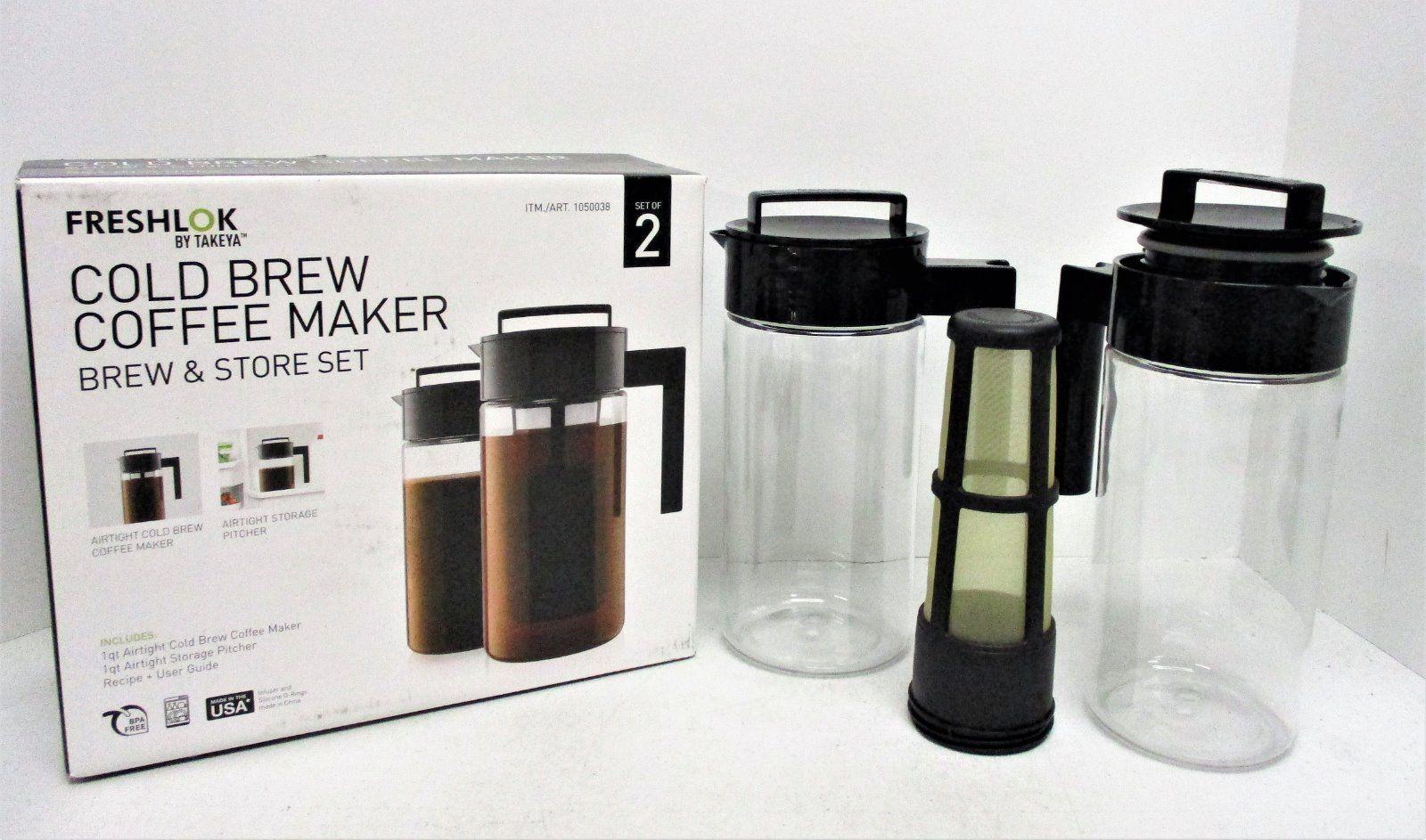 Takeya Freshlok 2 Pitcher Cold Brew Coffee Maker Brew ...