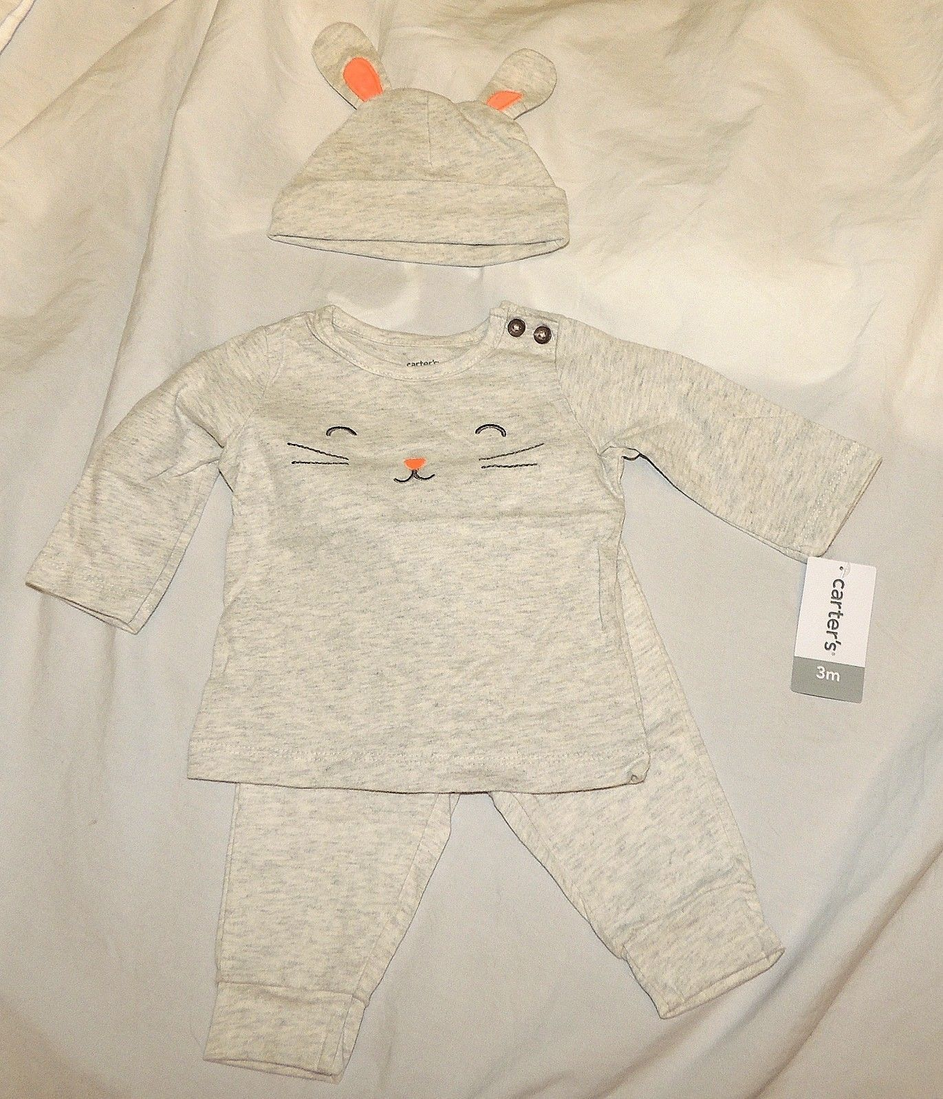 57b1a517b598 ... New Carters Baby Bunny Outfit Costume Unisex Sizes 3 6 9 M Easter  Halloween ...