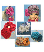 Custom Made Headband Ear Warmers Messy Bun Keeper *~* Crochet by Bren - $15.00