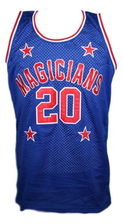 Mark haynes harlem magicians basketball jersey blue   1