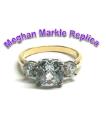 Royal Wedding Meghan Markle Duchess of Sussex Engagement Ring Replica - $16.00