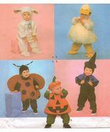 Toddler Ladybug Lamb Witch Pumpkin Duck Halloween Costume Sew Pattern 1/2-4 - $13.99