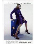 Louis Vuitton Epi Leather Purple 1997 Fashion Model Sensuality Ad - $10.99