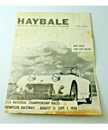 1958 Haybale Official Sports Car Racing Program Austin Healey Sprite - $40.00