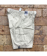 """Roundtree & Yorke Classic Fit Flat Front Cargo Shorts 8""""  String  40 TALL - $24.74"""