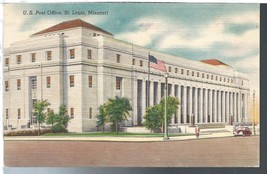 St Louis Missouri MO Post Office Postcard Linen Colourpicture  - $3.34