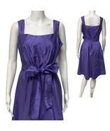 NWT Tahari Arthur S. Levine Lavender Sleeveless 100% Silk A- Line Dress ... - $44.55