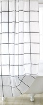 New DKNY Black and White Tompkins Square Cotton Fabric Bathroom Shower C... - $56.10