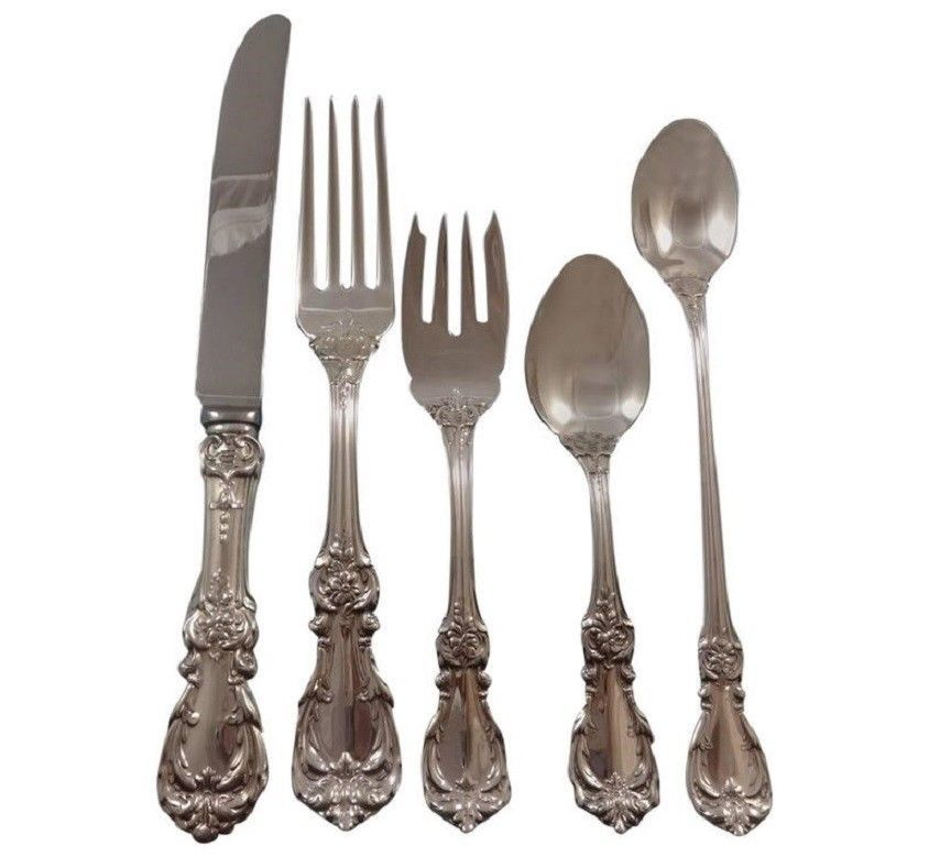 Primary image for Burgundy by Reed & Barton Sterling Silver Flatware Set 12 Service 66 Pcs Dinner