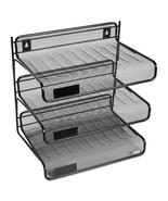 NEW Rolodex Mesh Three-Tier Letter Size Desk Shelf, 10 x 7 x 9 3/8,  3 ... - $43.60