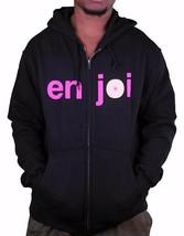 Enjoi Logo Skateboarding Black Pink Boobies Zip Up Hoodie 20417068 NWT image 1