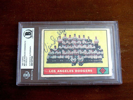 VIN SCULLY DODGERS BROADCASTER FORD FRICK SIGNED AUTO 1961 TOPPS 86 CARD... - $346.49
