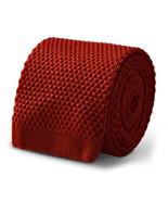 Frederick Thomas Orange Brûlé Uni cachemire Hommes Cravate en maille ft3394 - $49.47