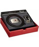 Tommy Hilfiger Men's Set Reversible Leather Belt Removable Buckle 11TL08... - $29.68