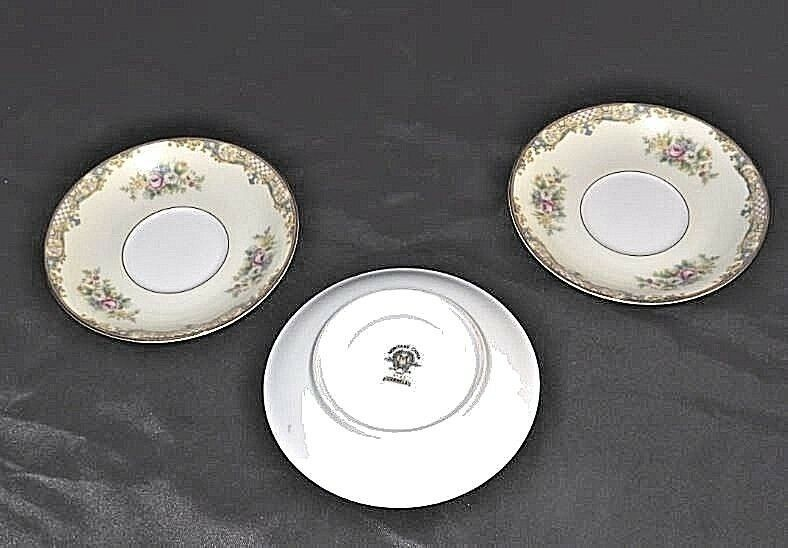 Noritake China - CARMELA 4732 Tea saucers AB 338-B   3 Piece Replacement Vintage