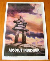 ABSOLUT INUKSHUK Canadian Vodka Ad LARGE NEWSPAPER PAGE 2000 HARD TO FIND! - $9.99