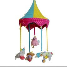 Cute Circus Newborn Infant Crib Decor Mobile Baby Take Along Musical Bed Bell
