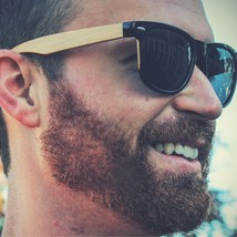 Wood Sunglasses - Bamboo Wooden Sunglasses with Polarized Black Lens - $36.78