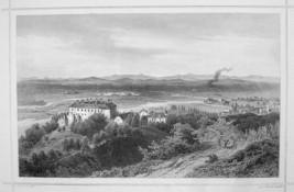 SLOVAKIA Hlohovec Castle Leopoldov Vag Valley - 1870s Original Engraving... - $35.55