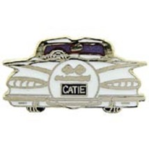 Chevy 1959 Rear White Car Emblem Pin Pinback    - $7.91
