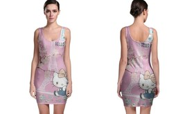 Paris Hello Kitty BODYCON DRESS FOR WOMEN - $22.99+