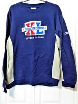 Reebok NFL Super Bowl XL Detroit 2-6-2006 All Embroidered Sweatshirt-Large - $34.64
