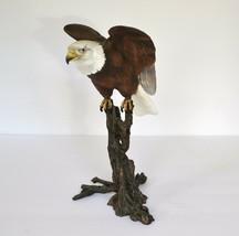 ROYAL WORCESTER BIRDS OF PREY LTD EDITION  BALD EAGLE METAL Sculpture En... - $65.00