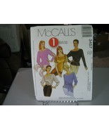 McCall's 3457 Misses Tops & Sash Pattern - Size S-M (8-14) Bust 31.5 to 36 - $7.91