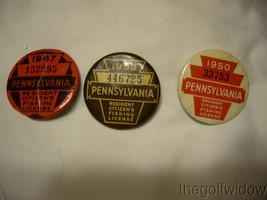 3 Vintage Pennsylvania Fishing Licenses 47-50-53 image 1