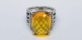 David Yurman Wheaton Ring With 16x12 mm Citrine And Diamonds Size 6.5 - $282.15