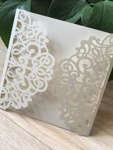 50pcs Cream invitation card,Wedding Shower Invite,laser cut Wedding Invi... - $50.80